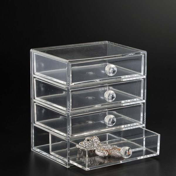 Four-drawer Acrylic Storage Chest In Craft