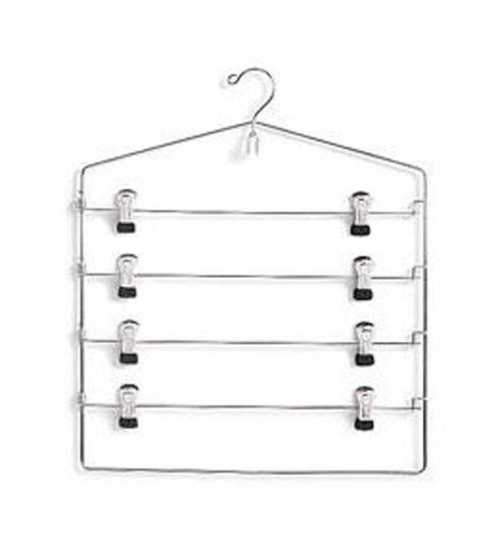Four-Tier Swing Arm Clip Hanger in Wire Hangers