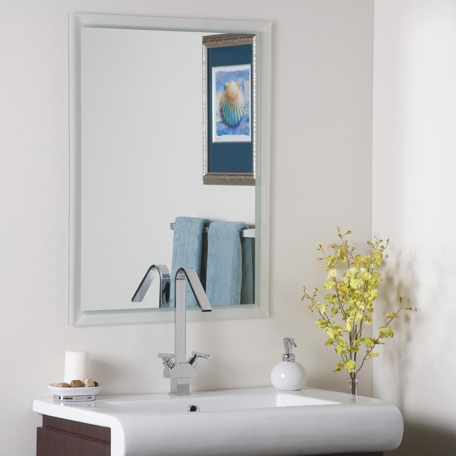 Wall Mirror  Bathroom Frameless in Frameless Mirrors