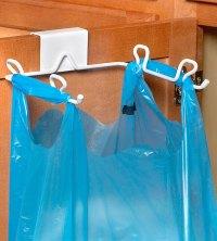 Grocery Bag Holder - Over the Cabinet Door in Plastic Bag ...