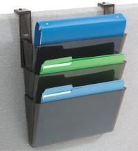 Hanging File Holder - Smoke in Wall Mount File Racks