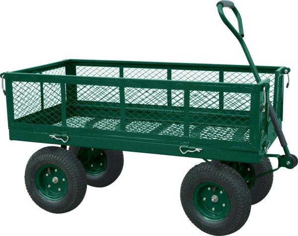 heavy duty crate wagon in garden