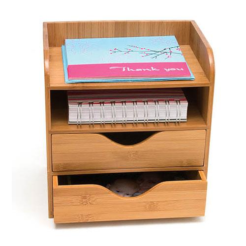 Bamboo FourTier Desk Organizer in Desktop Organizers