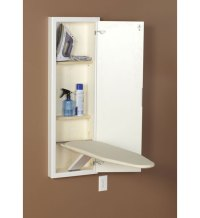 In Wall Ironing Board and Cabinet - White in Ironing Boards