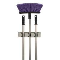 Three Slot Magic Mop and Broom Holder in Broom and Mop Holders