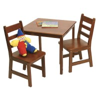 Childrens Wooden Table and Chairs - Cherry in Kids Furniture