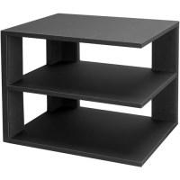 3-Tier Desktop Corner Shelf - Black in Home Decor