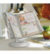 Dual-Motion Recipe Card Holder in Cookbook Holders and Stands