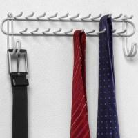 Wall Mount Closet Tie Rack - White in Tie and Belt Racks
