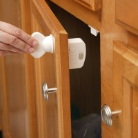 Safety First Child Proof Magnetic Lock Key in Cabinet Hardware