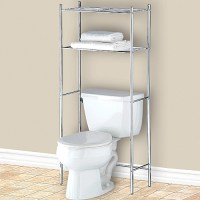 Over the Toilet Bathroom Shelf - Chrome in Bathroom Shelves