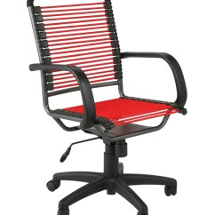 Bungee Cord Office Chair Black Counter Height Chairs High Back - Red And In