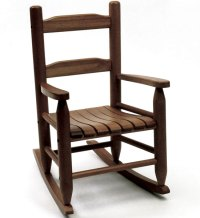 Childrens Rocking Chair - Walnut in Kids Furniture