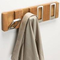 Rectangle Flip Hook Coat Rack - Bamboo in Wall Hooks