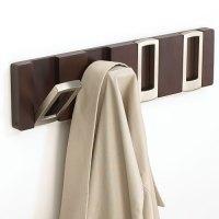 Rectangle Flip Hook Coat Rack - Espresso in Wall Hooks