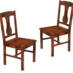 Dark Wood Dining Chairs Swivel Chair Ikea Malaysia Oak Set Of 2 In