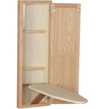 In Wall Ironing Board and Cabinet - Unfinished Oak in ...