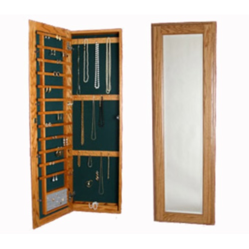 Large Wall Mounted Jewelry Cabinet  Magnetic Lock in Jewelry Cabinets