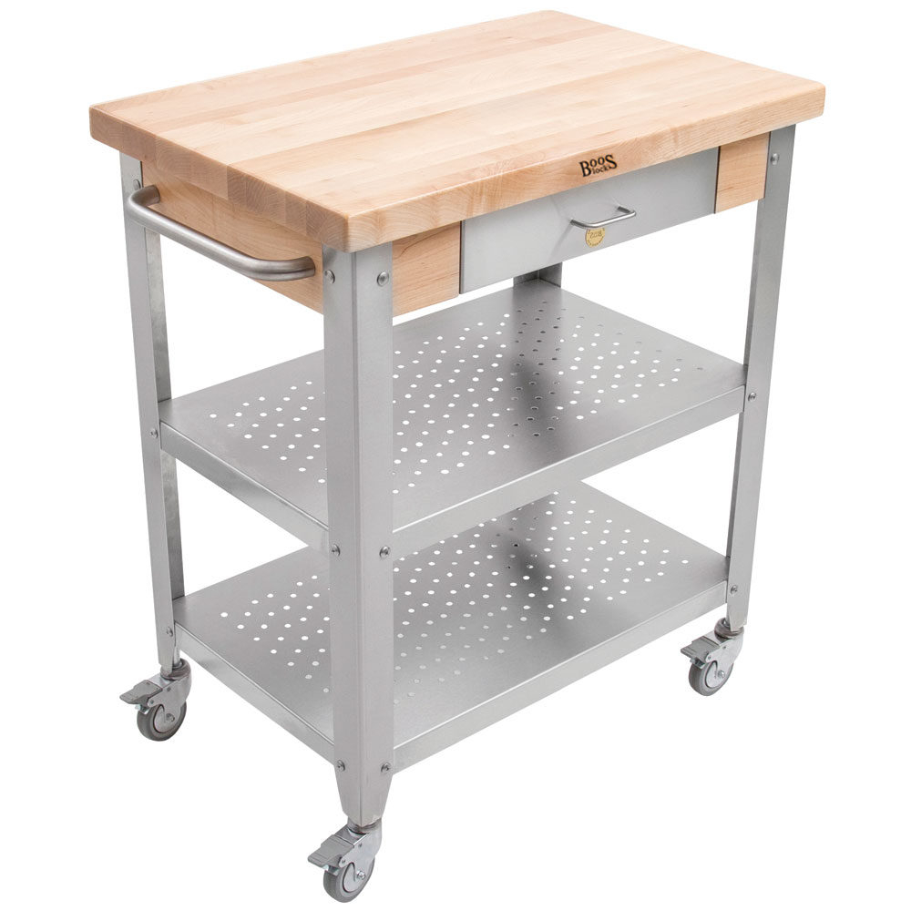 Mobile Kitchen Cart with Drawer in Kitchen Island Carts