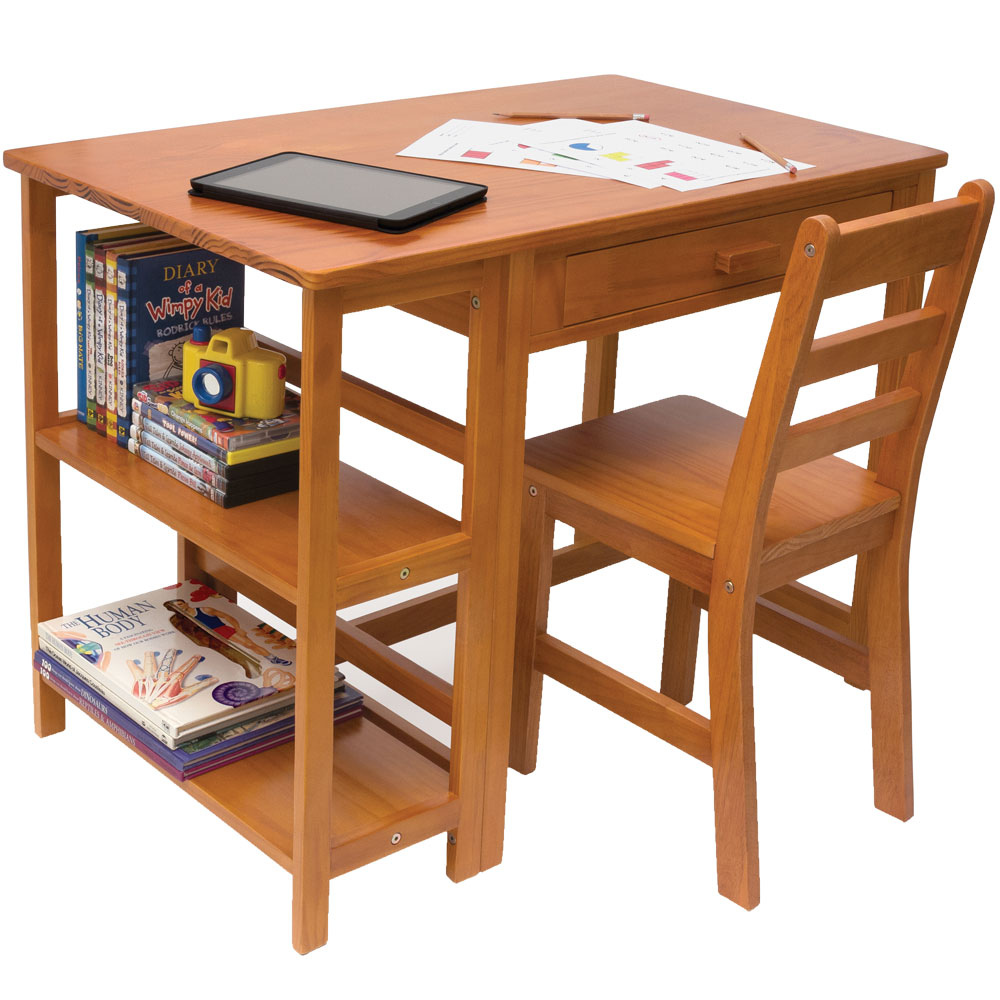 Kids Desk And Bookcase In Kids Desks