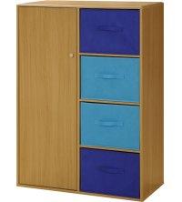 Kids Storage Cabinet with Baskets in Storage Cubes