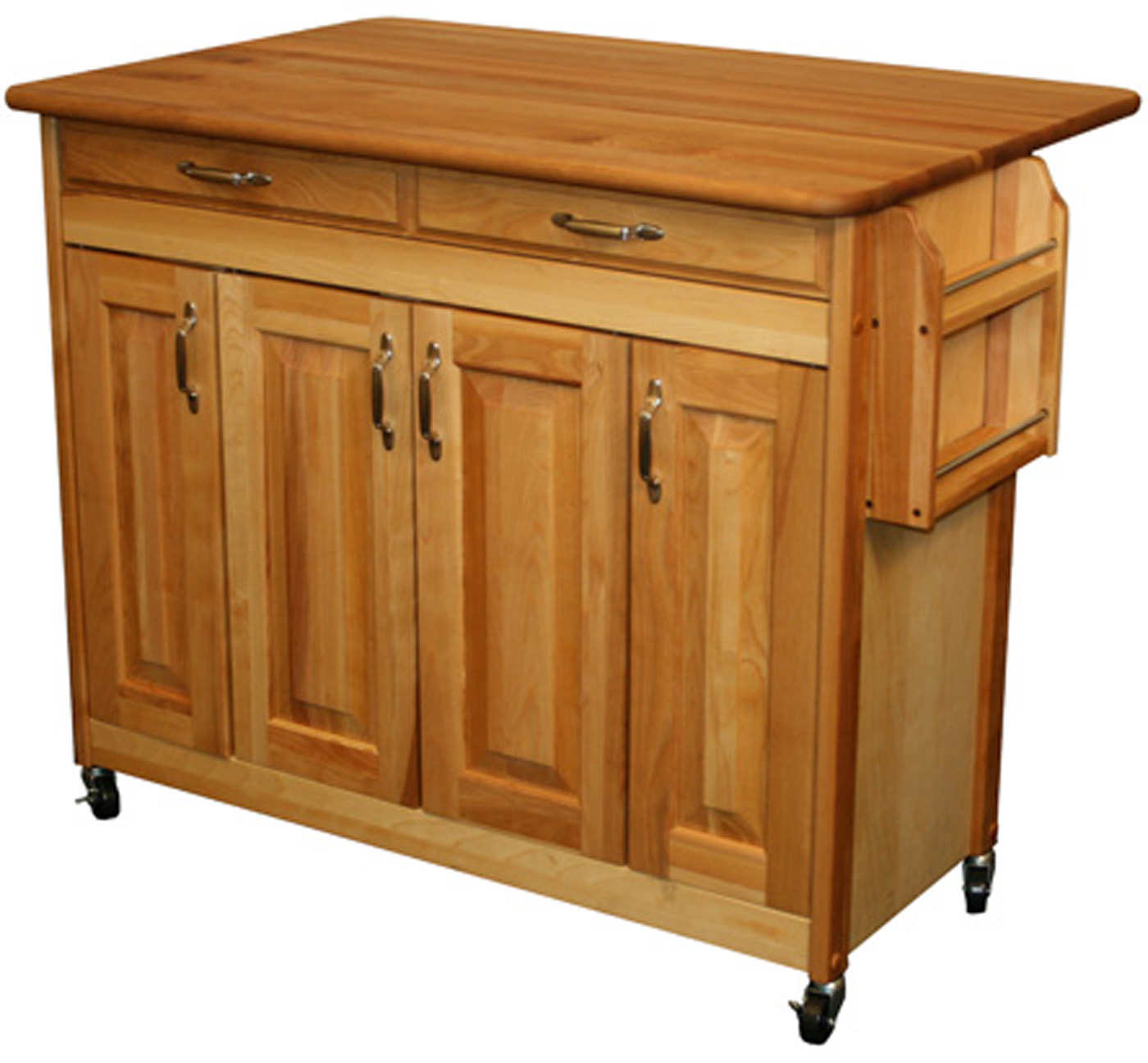 butcher block kitchen island cart salamander equipment in carts