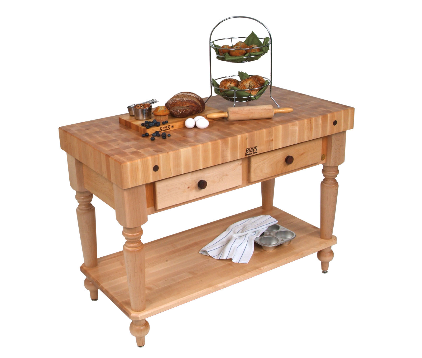 john boos kitchen islands remodeling chicago rustica island with butcher block top in