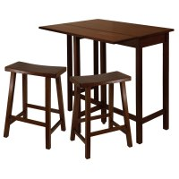 Lynnwood High Table with 2 Saddle Seat Stools - by Winsome ...