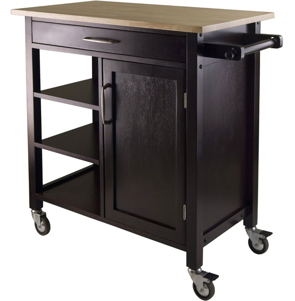 Mali Rolling Kitchen Cart in Kitchen Island Carts