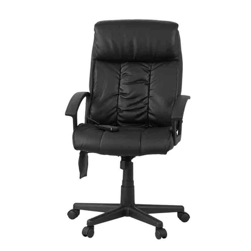 High Back Massaging Leather Executive Office Chair by