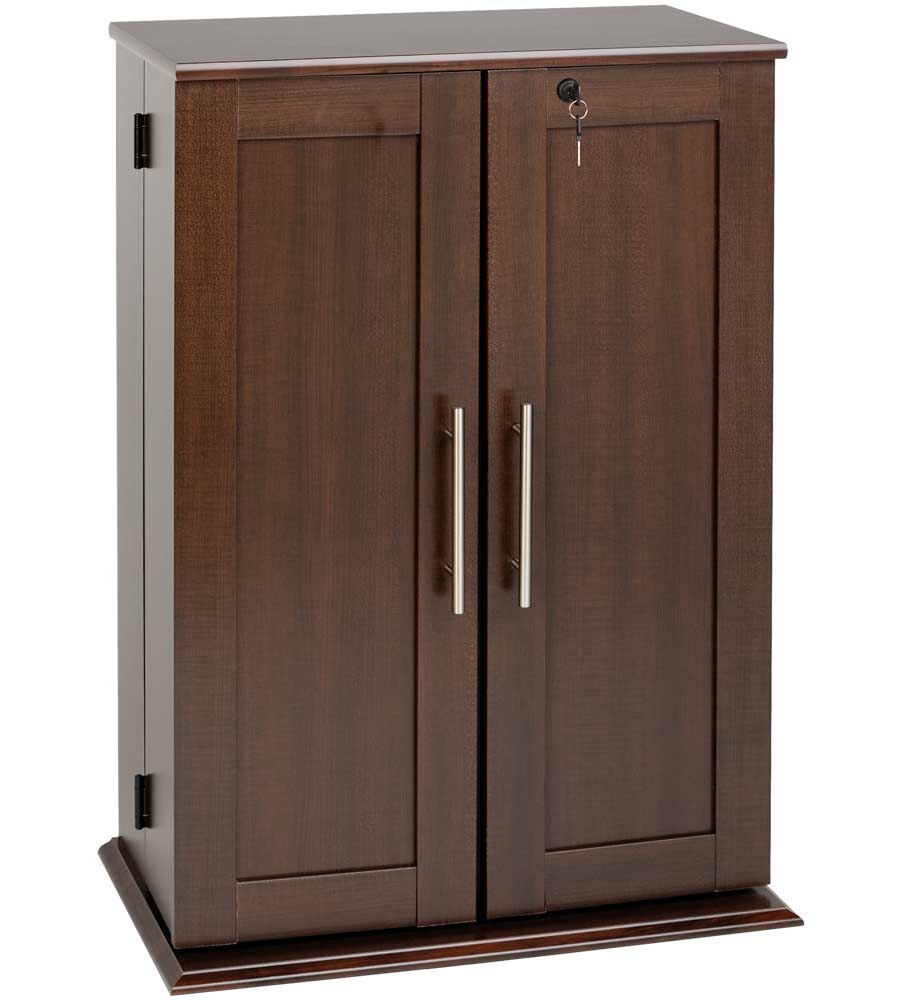 Media Storage Cabinet with Doors in Media Storage Cabinets