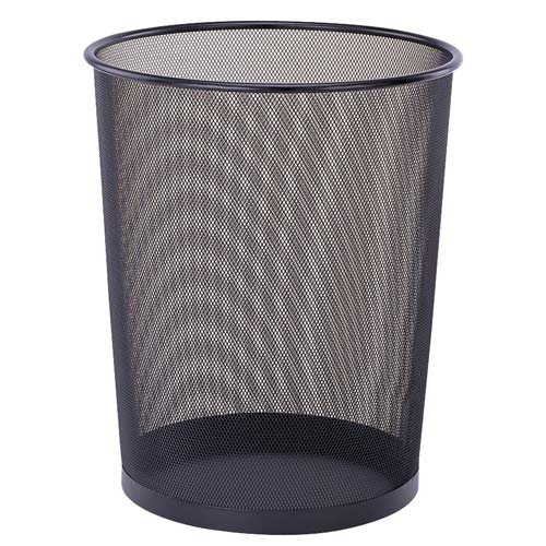 kitchen trash bin dividers cabinets mesh waste basket in small cans