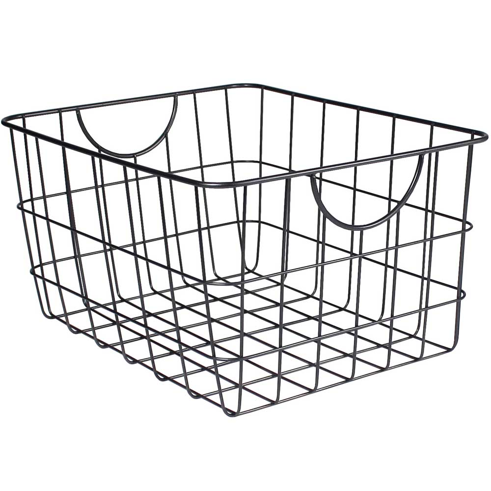 Metal Wire Basket with Handles in Wire Baskets