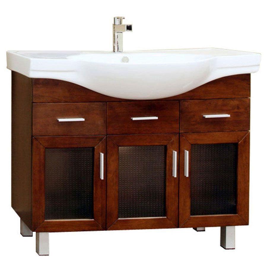 Modern Single Sink Vanity Cabinet in Bathroom Vanities