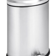 Stainless Steel Kitchen Trash Can Renovations Cost Oval - In Cans