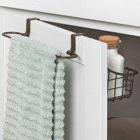 Over Cabinet Door Basket with Towel Bar in Cabinet Door ...