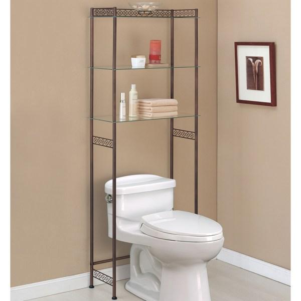 Bathroom Storage Over Toilet Shelf