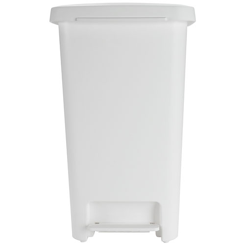 tall kitchen trash cans electric stoves oxo plastic can - white in
