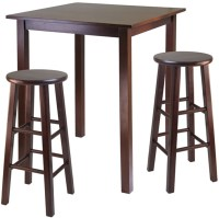 Parkland High Table with Two Swivel Stools - by Winsome ...