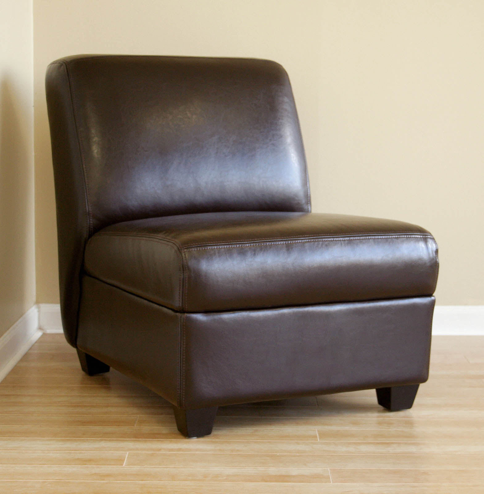 target armless accent chair slingback patio chairs canada pax full leather club in