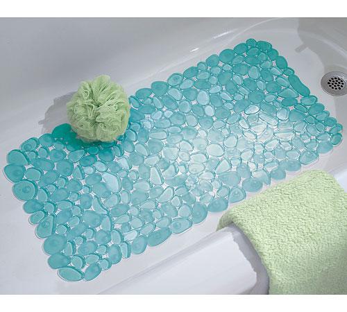 Pebble Bath Mat Blue In Shower And Bath Mats