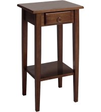 Regalia Accent Table With Drawer - Antique Walnut in Side ...
