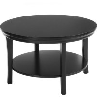 Round Coffee Table with Lower Shelf in Coffee Tables
