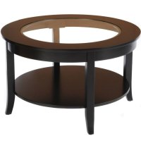 Round Glass Top Coffee Table in Coffee Tables