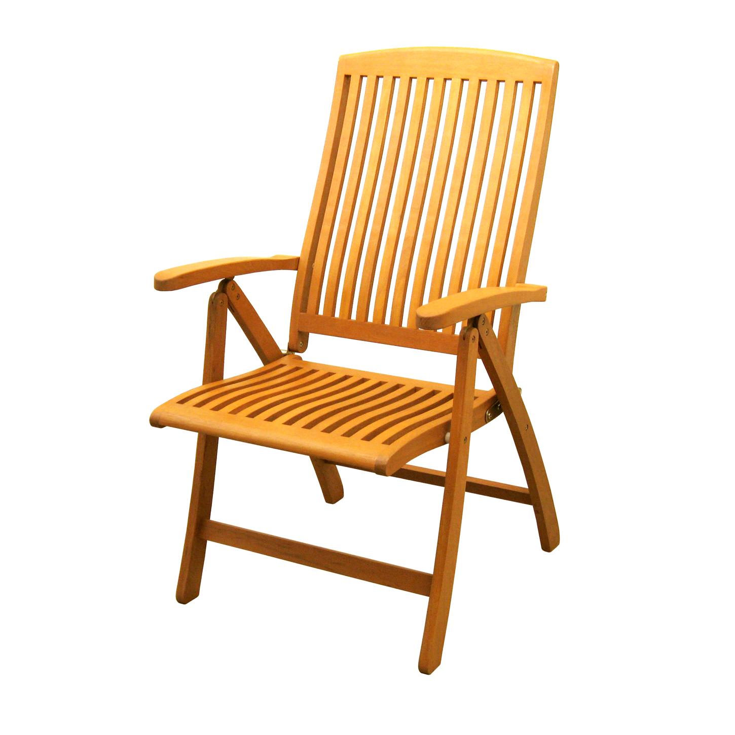 folding arm chair shiatsu massage royal tahiti 5 position wood set of 2