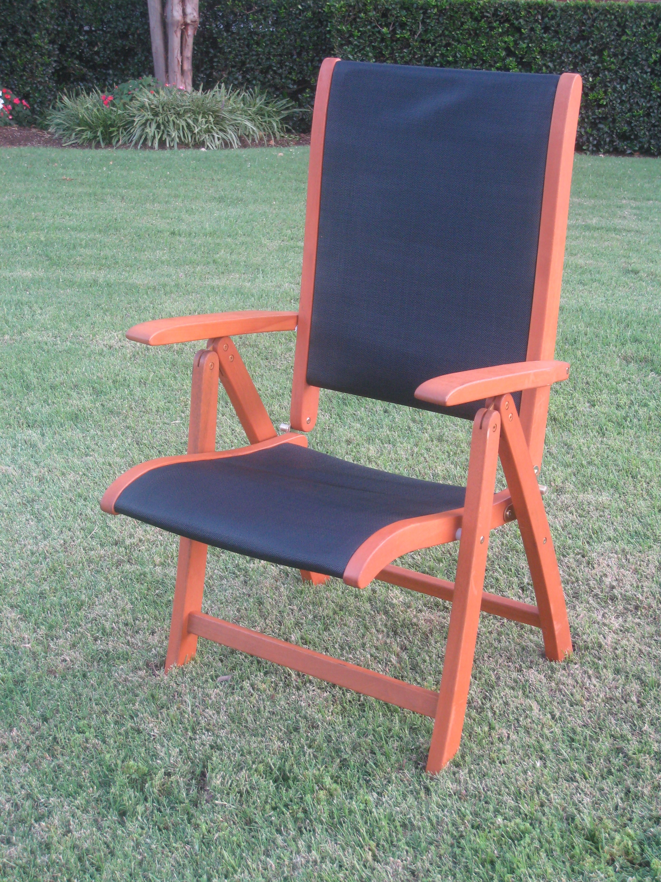 folding arm chair noble accessories tahiti 5 position outdoor set of 2 in