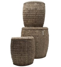 Seagrass Storage Ottomans by Tag - Set of 3 in Ottomans