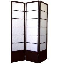 Shogun 3-Panel Room Divider - Espresso in Room Dividers