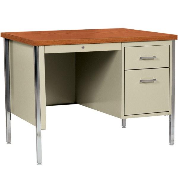 Single Pedestal Desk In Desks And Hutches