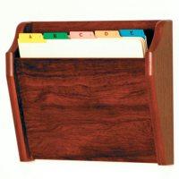 Wall File Holder - Oak in Wall Mount File Racks